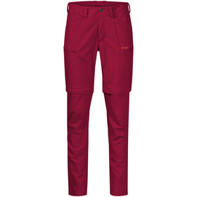 Bergans Utne Pantalón Zip-Off Mujer, rojo